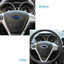 ABS Chrome Steering Wheel Rring Cover Logo for Ford Fiesta Focus Wing Stroke