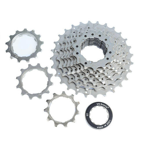 10 Speed Bike Bicycle Cassette Freewheel 11-28T 270g Silver for Shimano
