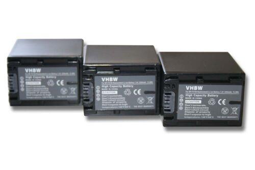3x original VHBW ® batería 2200mah para Sony handycam dcr-dvd310e//dcr-sx34e