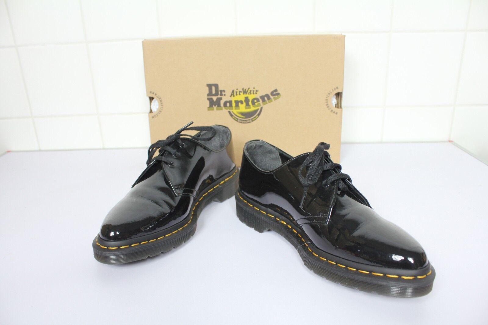 Dr. Martens Dupree zapatos zapatos zapatos charol óptica negro eu 43-uk 9 - como nuevo -- con caja de cartón  calidad oficial