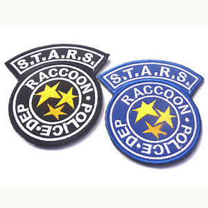 Resident Evil Blue STARS Raccoon Police Dep Embroidered Patch