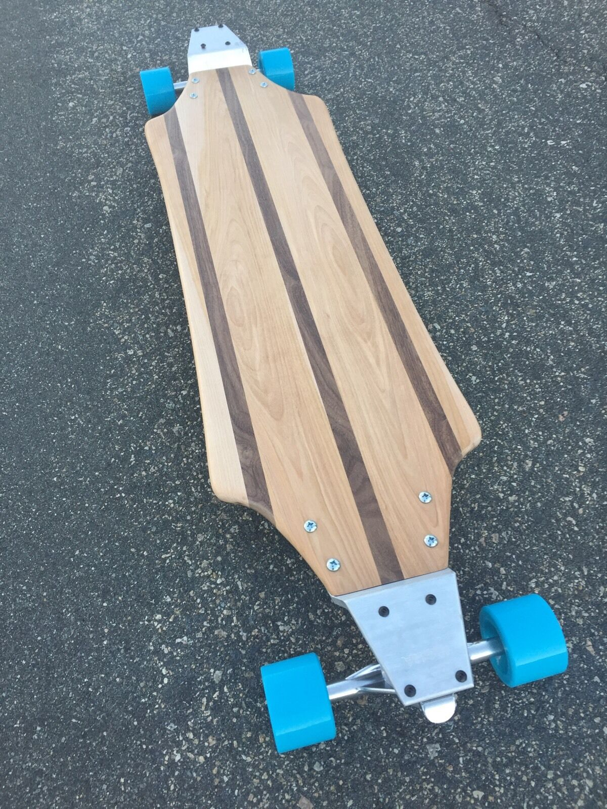 Longboard with Drop Plates made of Solid Wood - Redondo