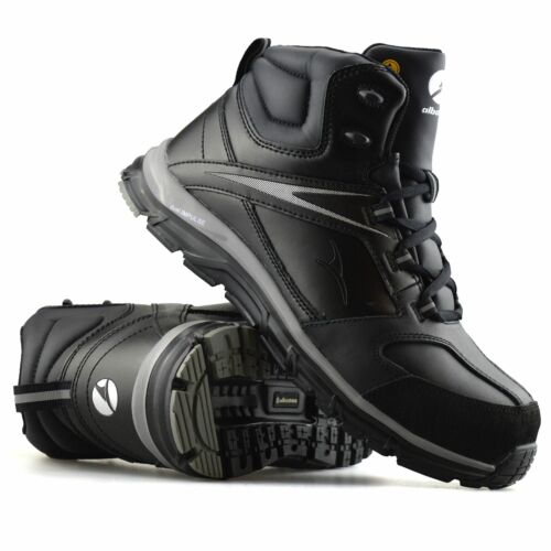 Mens New Albatros Safety Steel Toe Cap Leather Work Ankle Hiker Boots Shoes Size