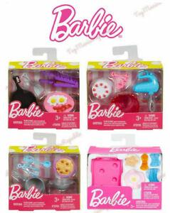 Set Of 4 Barbie Doll Cooking Kitchen Mini Story Starter Accessories Pack Mattel Ebay