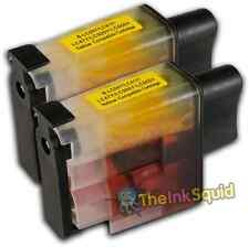 2 LC900 Yellow Ink Cartridge Set For Brother Printer DCP110C DCP111C DCP115C