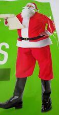 New Men's Felt Christmas Santa Claus Suit Costume