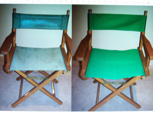 DONT THROW OUT YOUR DIRECTOR CHAIR GIVE IT A NEW LEASE OF LIFE WITH NEW COVERS