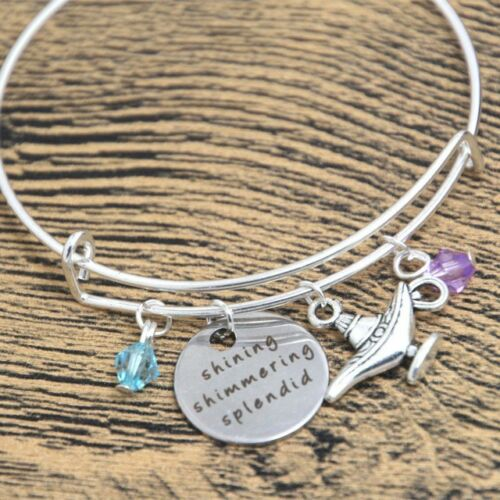 "/""SHINING scintillante splendide/"" Silver Charm Bracelet Aladdin Inspiré"