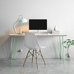 Image Is Loading Hairpin Desk Amp Dining Table Formica Birch Plywood