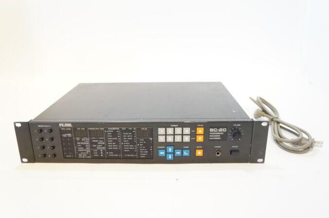 PEARL SC-20 Percussion Synthesizer 8ch Drum Brain MIDI Module RARE