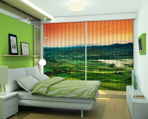 3D Hügel Himmel 68 Blockout Photo Curtain Print Curtains Drapes Fabric Window AU