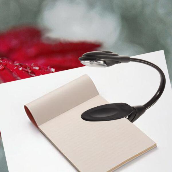 New Flexible Clip On Bright LED Reading Light Table Lamp Desk Lamp Book  Light