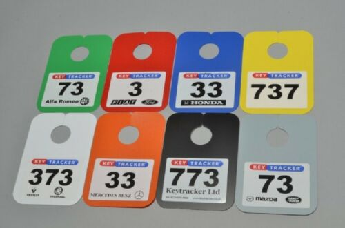 Coloured Identification Mirror Hanger Plates used for pitch ID stock control