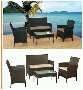 Rattan mobili da giardino divano tavolo sedie set patio veranda vimini all 39 aperto ebay - Mobili da giardino rattan economici ...