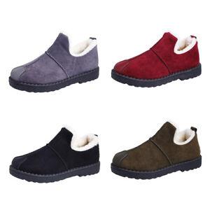 2826551ebfb9 Women Winter Snow Boots Anti Slip Warm Soft Cotton Velvet Ankle Warm ...