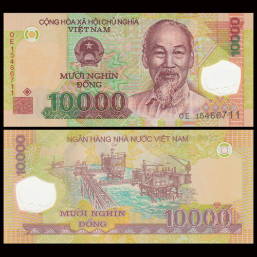 P-119 Vietnam 10000 Dong Polymer,UNC 2011-18 Bundle Lot 100 PCS