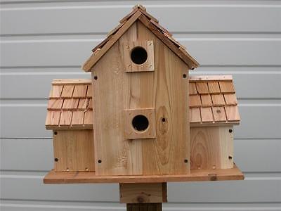 Cedar Birdhouse With 10 Separate  Compartments..Cedarnest Handmade Free Shipping