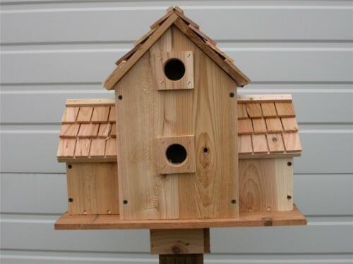 BLUEBIRD BIRDHOUSE With 6 SEPARATE COMPARTMENTS CEDARNEST HANDMADE FREE SHIPPING
