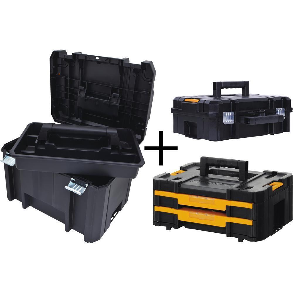 DEWALT Deep Tool Box Storage Small Parts Organizer Portable Drawers Combo Set
