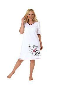 new styles a0c70 14e7d Details zu Normann Damen Nachthemd kurzarm Bigshirt mit Hundemotiv, auch in  Übergrössen