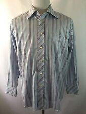 Ted Baker London Men's 16 1/2-33 Blue Red Striped Dress Shirt 100% Cotton
