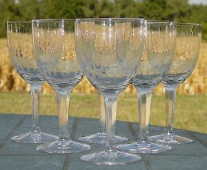 Villeroy-et-Boch-Service-de-6-verres-a-vin-en-cristal-taille