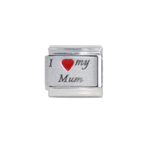 Amo a mi mama láser encanto italiano-se adapta a 9mm Encantos de Nominación italiano