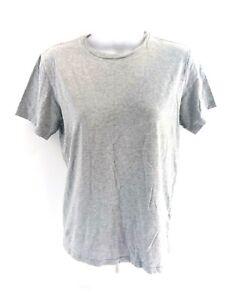 RALPH-LAUREN-Womens-T-Shirt-Top-M-Medium-Grey-Cotton