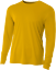A4-Men-039-s-Moisture-Wicking-Tech-Long-Sleeve-Resistant-T-Shirt-N3165-UPF-44-UV thumbnail 4