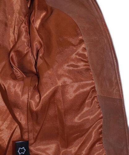 Janice Tan Mesdames Blazer Style Mode Rétro Vrai Doux Cuir D/'agneau Veste en cuir