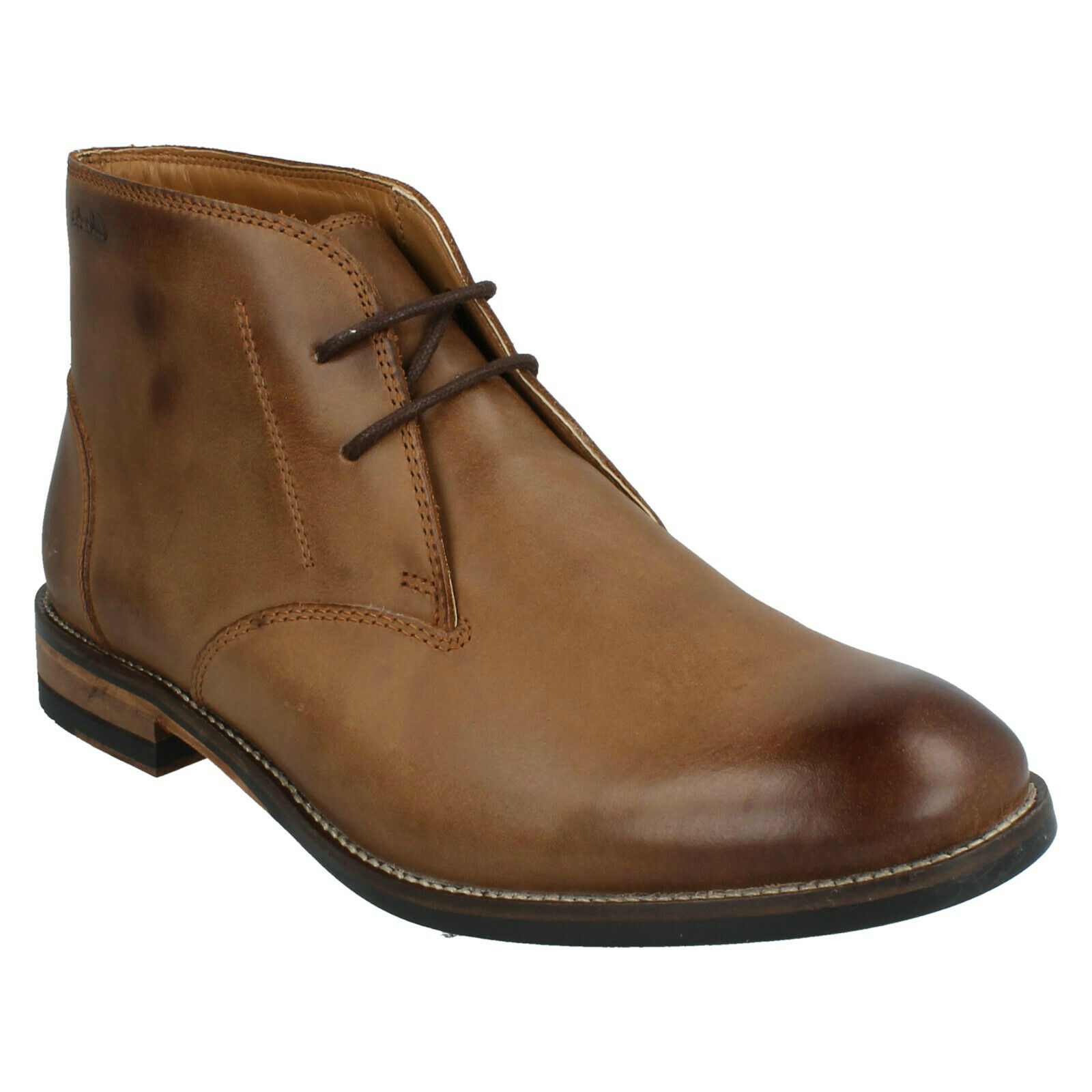 MENS CLARKS EXTON UP LACE UP CLASSIC DESERT CASUAL WORK LEATHER ANKLE BOOTS SIZE