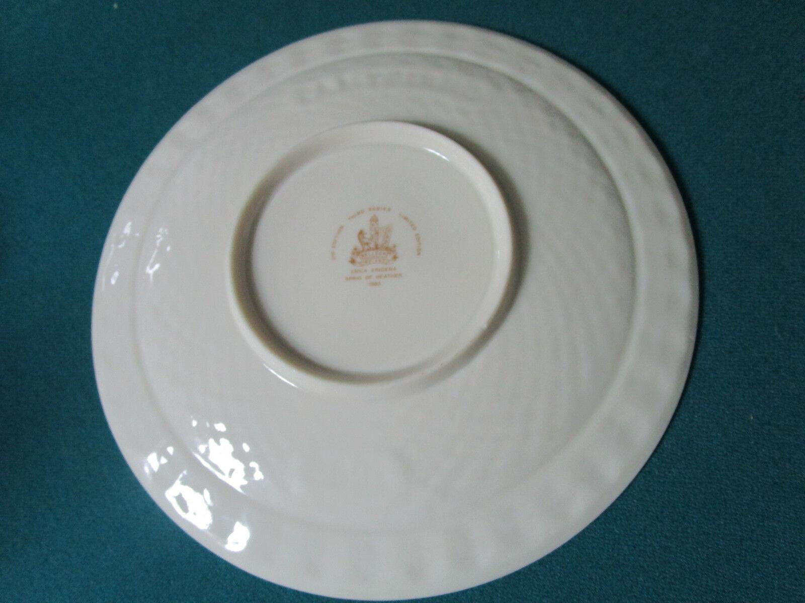 Irish Heather /' Belleek Plate Cabinet  Plate Superb Condition Vintage Belleek Christmas 1985 Plate 9 Diameter
