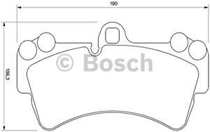 Juego-de-4-pastillas-de-freno-delantero-BOSCH-0-986-424-739-Audi-Q7-3-0-TDI
