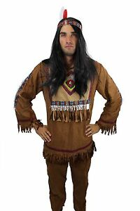 Image is loading Costume-Mens-Men-039-s-Costume-INDIAN-CHIEF-  sc 1 st  eBay & Costume Mens Menu0027s Costume INDIAN CHIEF APACHE SIOUX Cowboy L030 | eBay