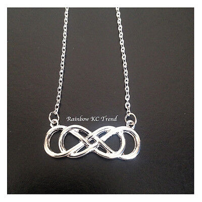 Double Infinity Revenge Emily Thorne Silver Double 8 Link Necklace Chain