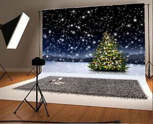 Image Is Loading 7X5Ft Christmas Tree Snowflakes Photography Background Photo Studio