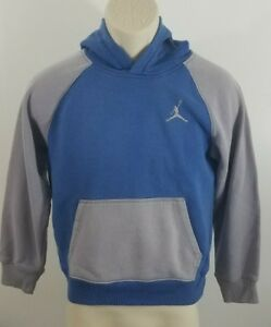 Air-Jordan-youth-size-large-blue-and-grey-hoodie-embroidered-flight-594