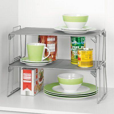 1 Etagenregal Mesh mit 2 Körben, Universal Korb Regal für Küche, Bad, Werkstatt