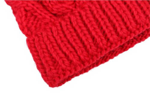 Assorted Knits Winter Kids/' Super Chunky Cable Knit Beanie with Yarn Pompom