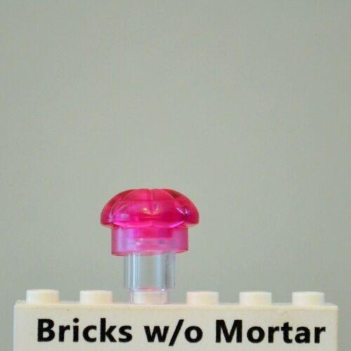 New Genuine LEGO Trans Dark Pink Cook Chef Toque Hat Minifig