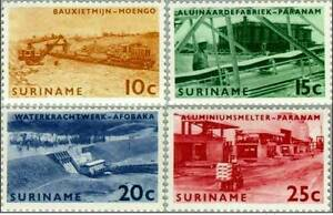 SURINAME-1965-Brokopondo-Industries-4-Stamps-MNH