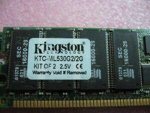 QTY-1x-1GB-DDR-PC-2100R-266Mhz-ECC-Registered-Server-memory-Kingston-KTC-ML530G2