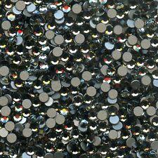 2028 SS10 BD *** 50 STRASS SWAROVSKI FOND PLAT 2,75mm BLACK DIAMOND F