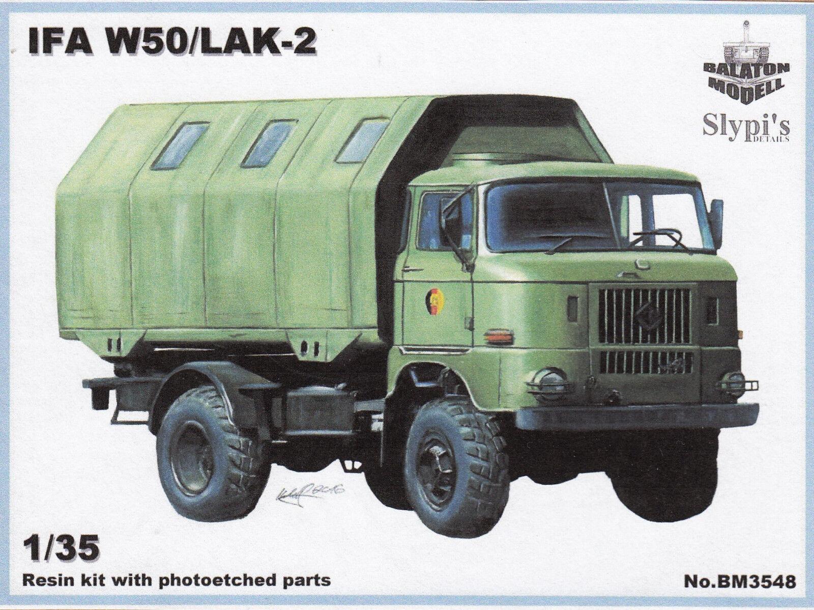 Bm3548  Balaton Modell - IFA W50   LAK-2 - Resin - 1 35 - TOPP MODELL  | Lass unsere Waren in die Welt gehen