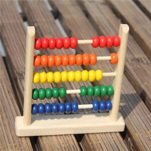 Kids Wooden Toys Child Abacus Counting Beads Maths Learning Educational Toy Z