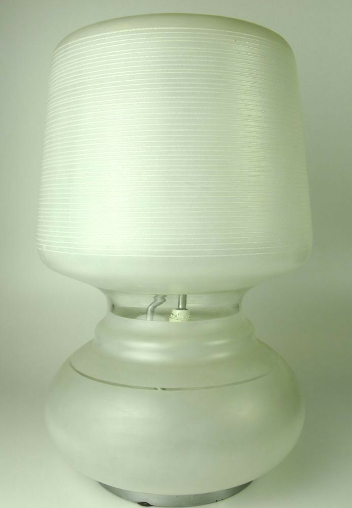 VINTAGE TABLE LAMP. GLASS HAND. GRINDING. CIRCA 1960.