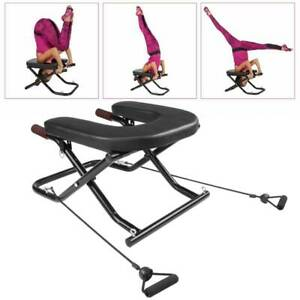 yoga headstand chair inversion bench therapy strength