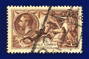 1934-SG450-2s6d-Chocolate-Brown-N73-1-Good-Used-Cat-40-chdv
