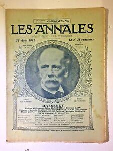 Les-Annales-N-1522-25-Aout-1912-MASSENET-Partition-musique