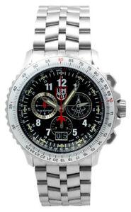 LUMINOX-Air-F-22-Raptor-9240-44MM-SS-Black-Dial-Men-039-s-Watch-XA-9241-M